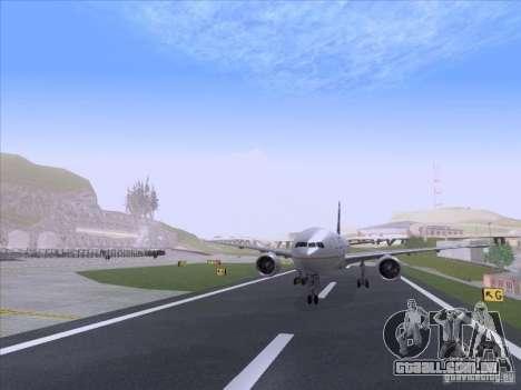 Boeing 777-200 United Airlines para GTA San Andreas traseira esquerda vista