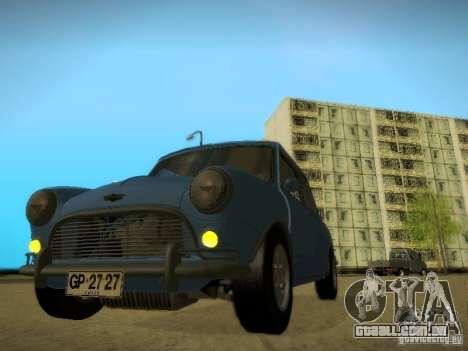 Mini Cooper 1965 para GTA San Andreas traseira esquerda vista
