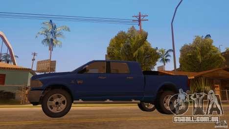 Dodge Ram 2500 HD 2012 para GTA San Andreas traseira esquerda vista