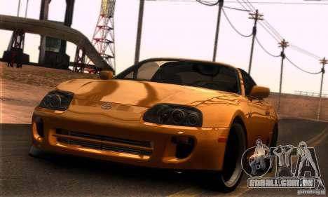 Toyota Supra Targa para GTA San Andreas esquerda vista