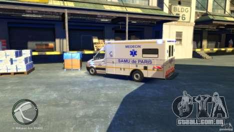 Mercedes-Benz Sprinter Ambulance para GTA 4 traseira esquerda vista