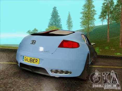 Bugatti Galibier 16c para GTA San Andreas vista traseira