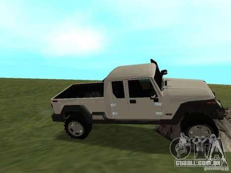 Jeep Gladiator para GTA San Andreas vista interior