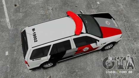 Volkswagen Parati G4 PMESP ELS para GTA 4 vista direita