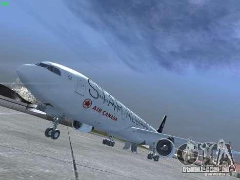 Airbus A330-300 Air Canada para GTA San Andreas esquerda vista