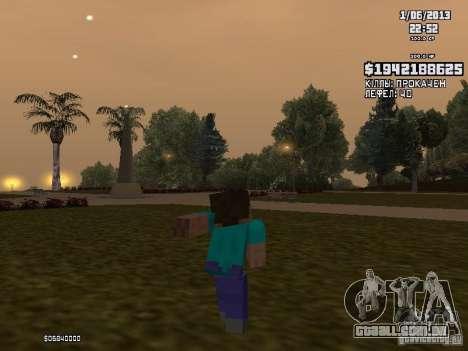 Steve para GTA San Andreas terceira tela