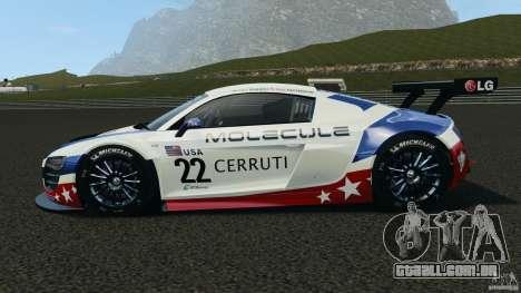 Audi R8 LMS para GTA 4 esquerda vista