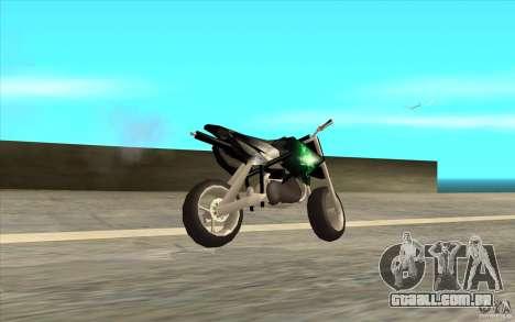 Black Rockstar Moto Cross para GTA San Andreas esquerda vista