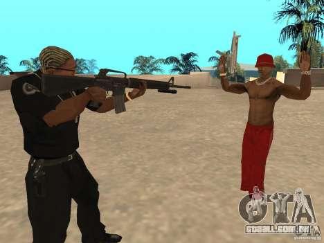 M4A1 from Left 4 Dead 2 para GTA San Andreas segunda tela