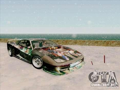 Ferrari Testarossa Custom para GTA San Andreas vista interior