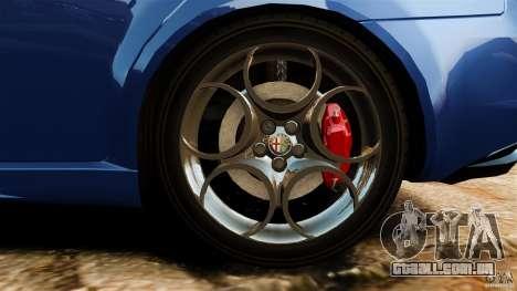 Alfa Romeo 159 TI V6 JTS para GTA 4 vista superior
