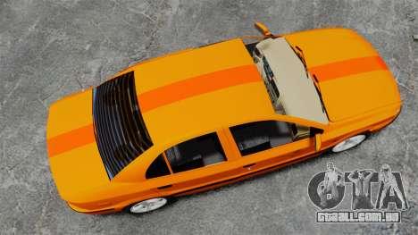 Iran Khodro Samand LX Taxi para GTA 4 vista direita