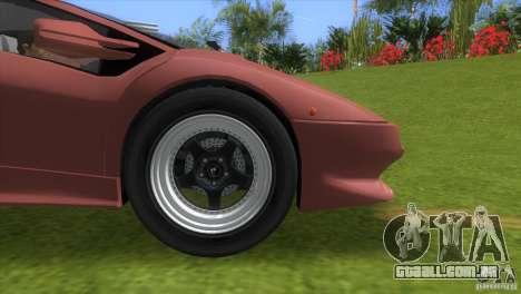 Lamborghini Diablo VTTT Black Revel para GTA Vice City vista direita