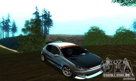 Peugeot 206 Tuning para GTA San Andreas