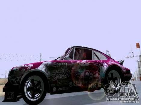 Porsche 911 Pink Power para GTA San Andreas vista interior