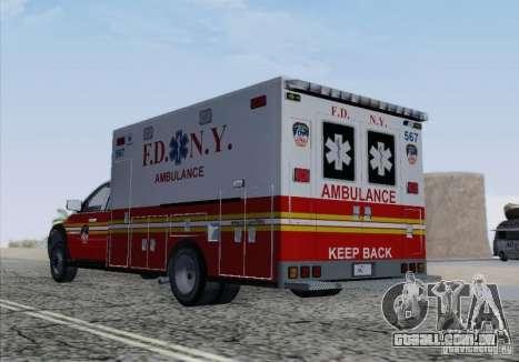 Dodge Ram Ambulance para GTA San Andreas vista superior