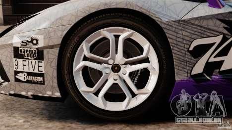 Lamborghini Aventador LP700-4 2012 Galag Gumball para GTA 4 vista interior