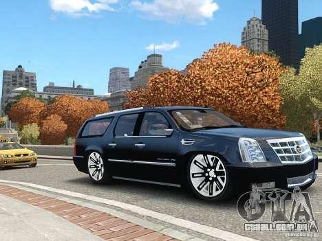 Cadillac Escalade ESV 2012 DUB para GTA 4 traseira esquerda vista