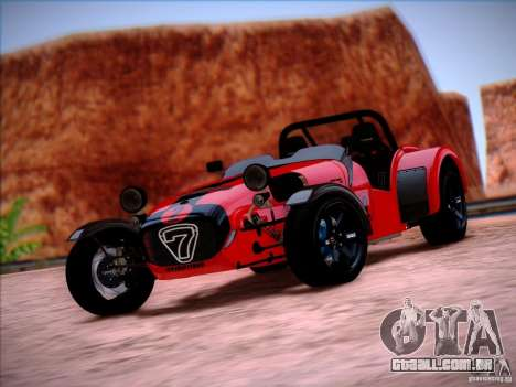 Caterham Superlight R500 para GTA San Andreas vista direita
