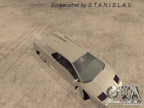 Lamborghini Diablo para GTA San Andreas vista traseira