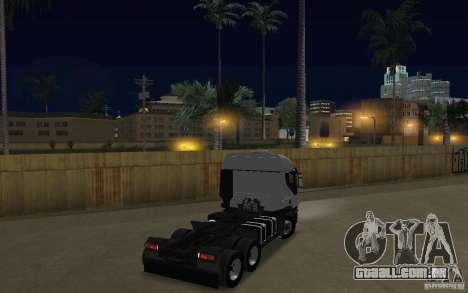 Iveco Stralis Double Trailers para GTA San Andreas vista direita