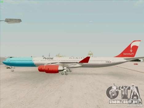Airbus A-340-600 Plummet para GTA San Andreas esquerda vista