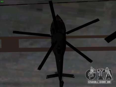 MH-X Stealthhawk para GTA San Andreas vista interior