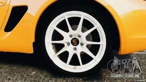 Porsche Cayman R 2012 [RIV] para GTA 4 vista lateral