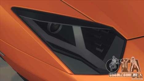 Lamborghini Aventador LP 700-4 para GTA San Andreas vista interior