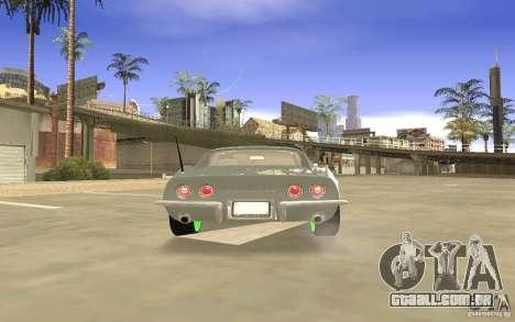 Chevrolet Corvette Stingray Monster Energy para GTA San Andreas vista superior