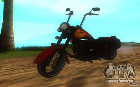 Motorcycle from Mercenaries 2 para GTA San Andreas traseira esquerda vista