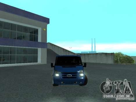 Ford Transit Sport 2011 para GTA San Andreas vista traseira