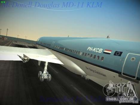 McDonnell Douglas MD-11 KLM Royal Dutch Airlines para GTA San Andreas vista interior