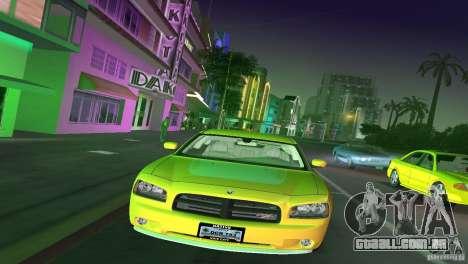 Dodge Charger RT para GTA Vice City vista traseira esquerda