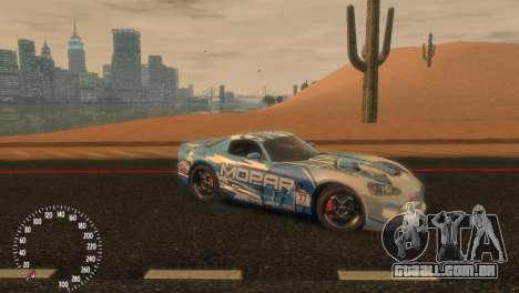 Dodge Viper SRT-10 Mopar Drift para GTA 4 esquerda vista