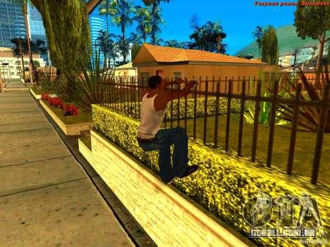 New Animations V1.0 para GTA San Andreas por diante tela