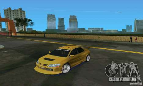 Mitsubishi Lancer Evo para GTA Vice City deixou vista