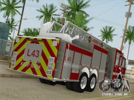 Pierce Arrow LAFD Ladder 43 para GTA San Andreas traseira esquerda vista