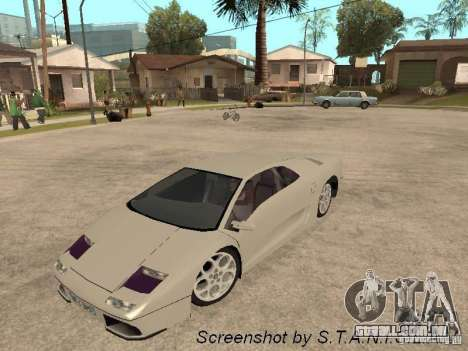 Lamborghini Diablo para GTA San Andreas vista direita