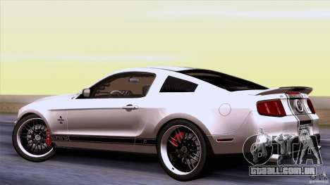 Ford Shelby GT500 Super Snake para GTA San Andreas vista direita