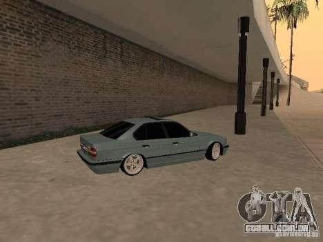 BMW E34 540i V8 para GTA San Andreas esquerda vista