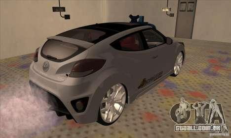 Hyundai Veloster Castor para GTA San Andreas traseira esquerda vista