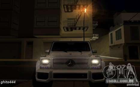 Mercedes Benz G65 AMG para GTA San Andreas vista traseira
