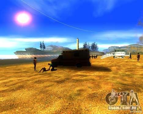 Salvação do homem na praia para GTA San Andreas segunda tela