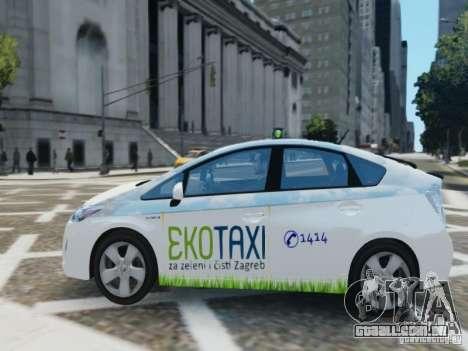 Toyota Prius EKO TAXI (Hrvatski taxi) para GTA 4 esquerda vista