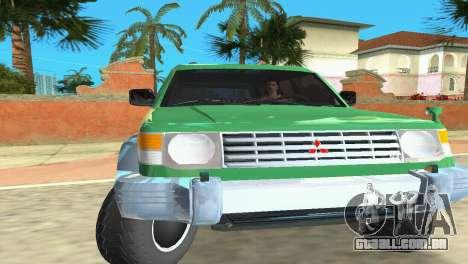 Mitsubishi Pajero 1993 para GTA Vice City deixou vista