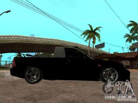 Lada Priora Pickup para GTA San Andreas traseira esquerda vista