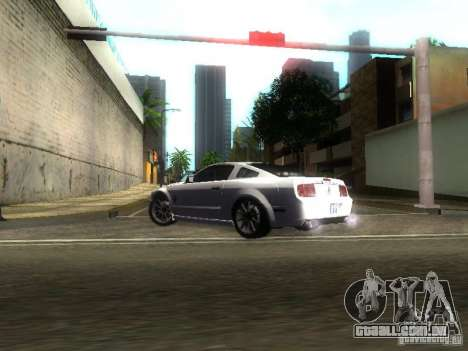 Ford Shelby GT 2008 para GTA San Andreas vista interior
