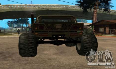 Monster Patriot para GTA San Andreas esquerda vista