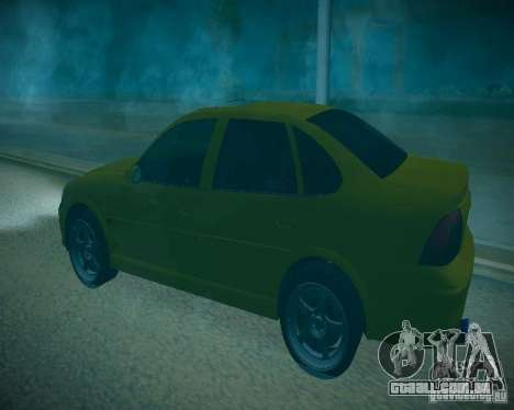 Opel Vectra B para vista lateral GTA San Andreas